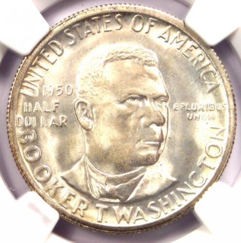1950-S BTW Booker T Washington Half Dollar 50C Coin - NGC MS67 - $1,400 Value!