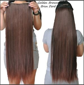"CLIP IN hair extension,Straight hair, 24"", Color GOLDEN BROWN Yellowknife Northwest Territories image 3"