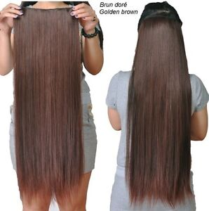 """CLIP IN hair extension,Straight hair, 24"""", Color GOLDEN BROWN"""