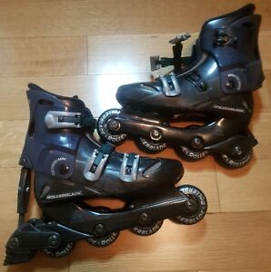 Women's Rollerblade Rollerblades (Size 7.5), Knee & Elbow Guards