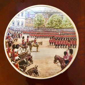 Trooping of the colour collectable plate ..Royal Albert