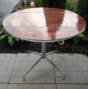 Vintage Dining Table with Chrome Base