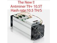 [QUICK SALE] Antminer T9+ 10.5TH/s + PSU(power supply) Latest model, more stable than S9