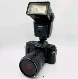 Pentax P30N 35mm Film Camera Bundle (Read Description)