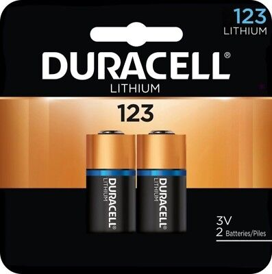 DURACELL 123 HIGH POWER LITHIUM 3 VOLT BATTERY 2 PACK - - LATEST EXP DATE 3-2028