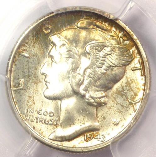 """1943-S Mercury Dime 10C - PCGS MS67+ FB - Rare PQ """"Plus Grade"""" - $700 Value!"""