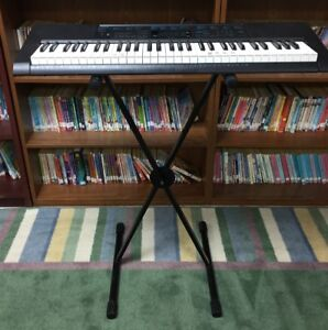 Casio Keyboard, Stand, and Carrying Case