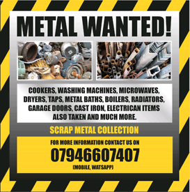 Scrap Metal Collection (£20 fee per collection)
