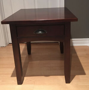 Custom made solid cherry mission style end table