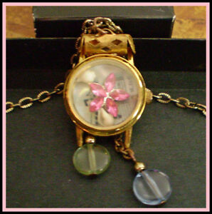 VINTAGE DESIGN RECYCLED WATCH NECKLACE