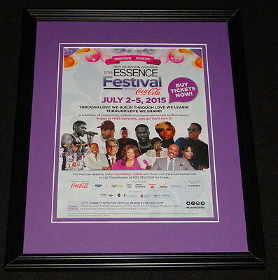 2015 Essence Festival Framed ORIGINAL Advertisement Kevin Hart Kendrick Lamar