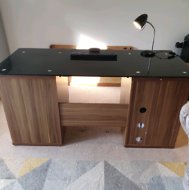 Office desk with glass top £750 new from Wayfair