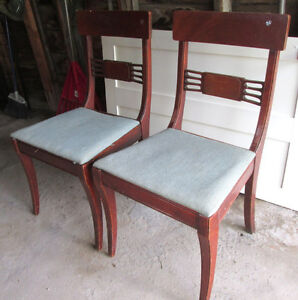 Vintage 1940s Wood Dining Room Chairs Kawartha Lakes Peterborough Area image 2