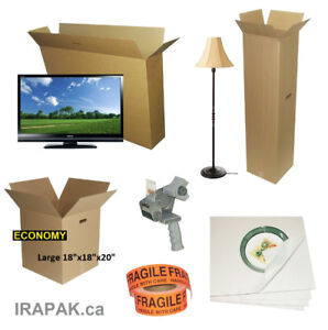 Moving or Storage Boxes, Specialty Boxes for Artwork, TV, China…