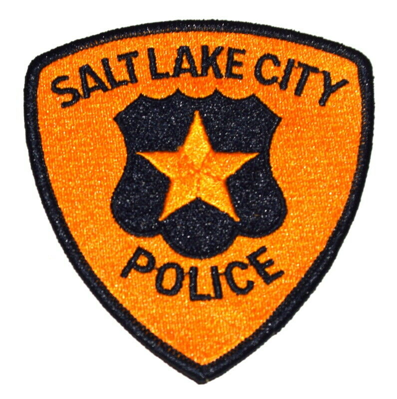 "SALT LAKE CITY UTAH UT Sheriff Police Patch SHIELD GOLD STAR 4"" ~"