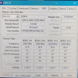 DDR4 2400MHz Corsair Memory -16GB (2x8GB) DDR4 2400MHz C16 DIMM