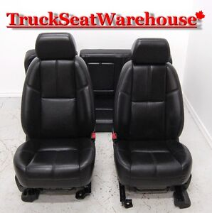Chev Truck Silverado GMC Sierra BLACK LEATHER Power Heated Seats