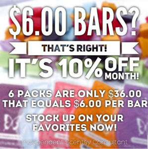 FLASHBACK SCENTSY PRICING $6 PER BAR