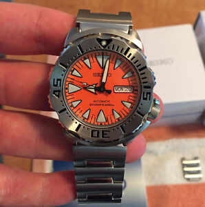 Montre/Watch Seiko SRP309 Orange Monster automatique comme neuve