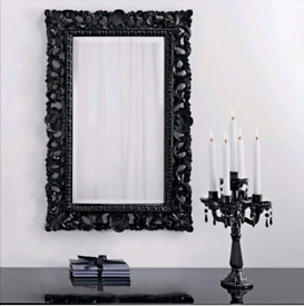 **REDUCED** Stunning Inspire Rococo Gloss Wall MirrorBlack Decorative
