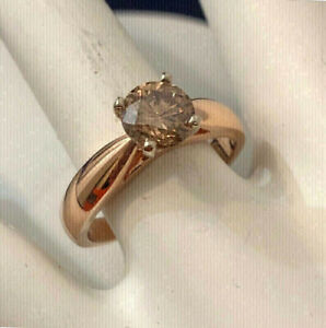 14K Rose Gold 1ct. Fancy Coloured Brown Diamond Engagement Ring
