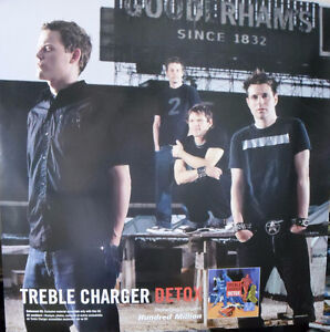 """""""Treble Charger"""" 2002 Promotional Poster 24""""x24"""""""