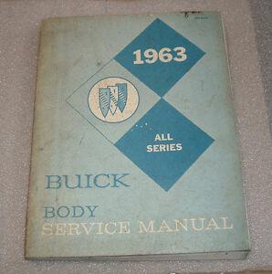1963 BUICK BODY MANUAL