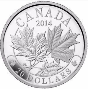 RCM - 2014 Majestic Maple Leaves - $20.00 Coin