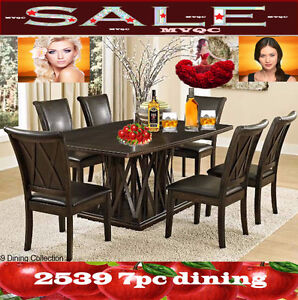 dinette  &dining room sets, extendable tables, chairs, 2539 7pc