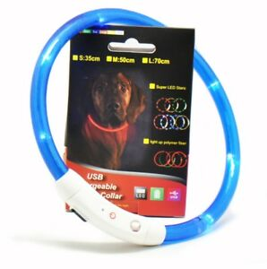 LED Light Colour Collar for Dogs - Rechargeable USB
