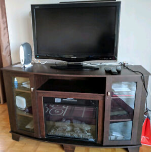TV UNIT WITH BUILT IN FIRE PLACE...