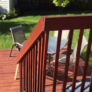 Set de patio avec 4 chaises   $25.00