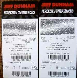 JEFF DUNHAM Kingston Collector 3D tickets QTY 2  at  krock