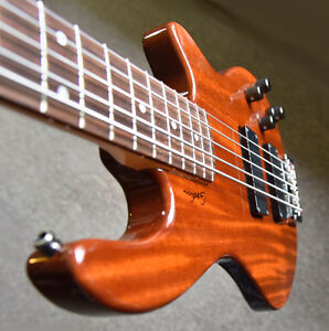 5 String Solid Mahogany Bass / Tweaked and in Top Cond.