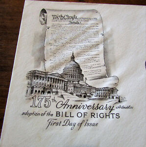 1966 175th Anniversary US Bill of Rights 5 Cent First Day Cover Kitchener / Waterloo Kitchener Area image 2