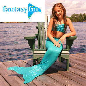 FREE SHIPPING !  FANTASY FIN MERMAID TAIL & MONOFIN  - ALL SIZES