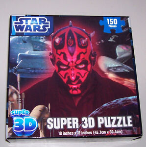 Star Wars Darth Maul Super 3D Puzzle + Toy Figures London Ontario image 4