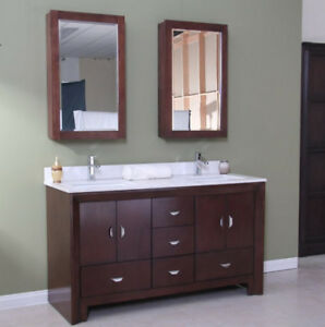 Beautiful Modern bathroom vanity set with sink 5-ft