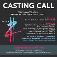 """Casting Call: The Zolas """"Swooner"""" Music Video (PAID)"""