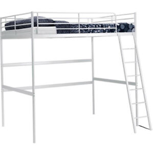 Ikea white loft bed, Double