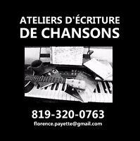 Ateliers d'écriture de chansons