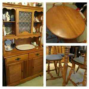 Solid wood (maple) dining set