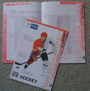 1998 Nagano Olympics men's hockey programs (Team Canada)