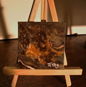Peinture ABSTRAITE par TETRO, Denis.Tétrault Fonte d'Or 4x4
