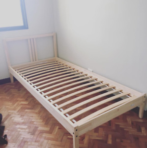 Ikea Twin Bedframe and Memory Foam Mattress