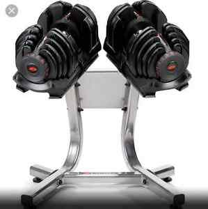 Looking for Bowflex 1090 dumb bells with the stand