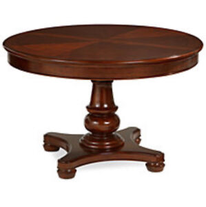 Brown Wooden Round dinner table