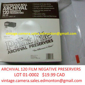 Lot 01-0002 – Archival 120 Film Negative Preservers