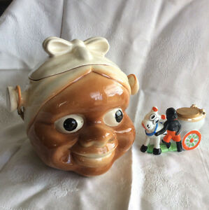 Collectible Mammy biscuit  jar, and novelty ornament