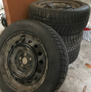 205/55R16 91S Uniroyal Tiger Paw 4 winter tires for sale